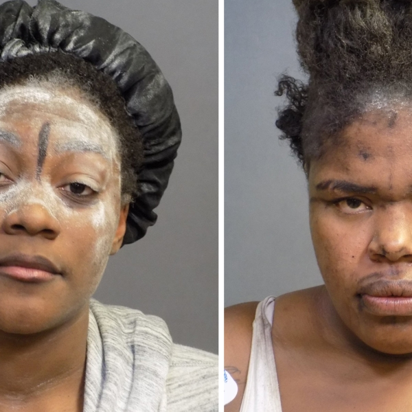 Laglennda Damona Carr, on the left, and Passion Shenay Coleman are seen in undated booking photos provided by the Costa Mesa Police Department on Oct.7, 2019.