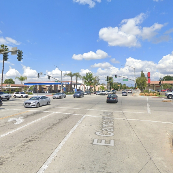 The intersection of Cameron and Glendora avenues in West Covina, as pictured in a Google Street View image.