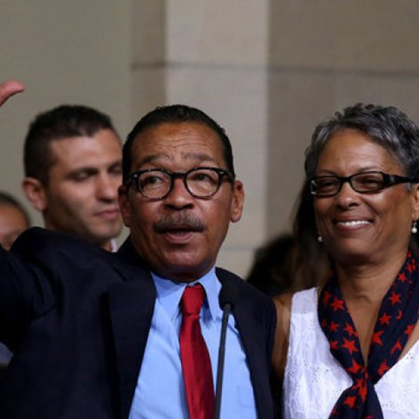 Los Angeles City Council President Herb Wesson with his wife, Fabian, in 2013. (Credit: Luis Sinco / Los Angeles Times)