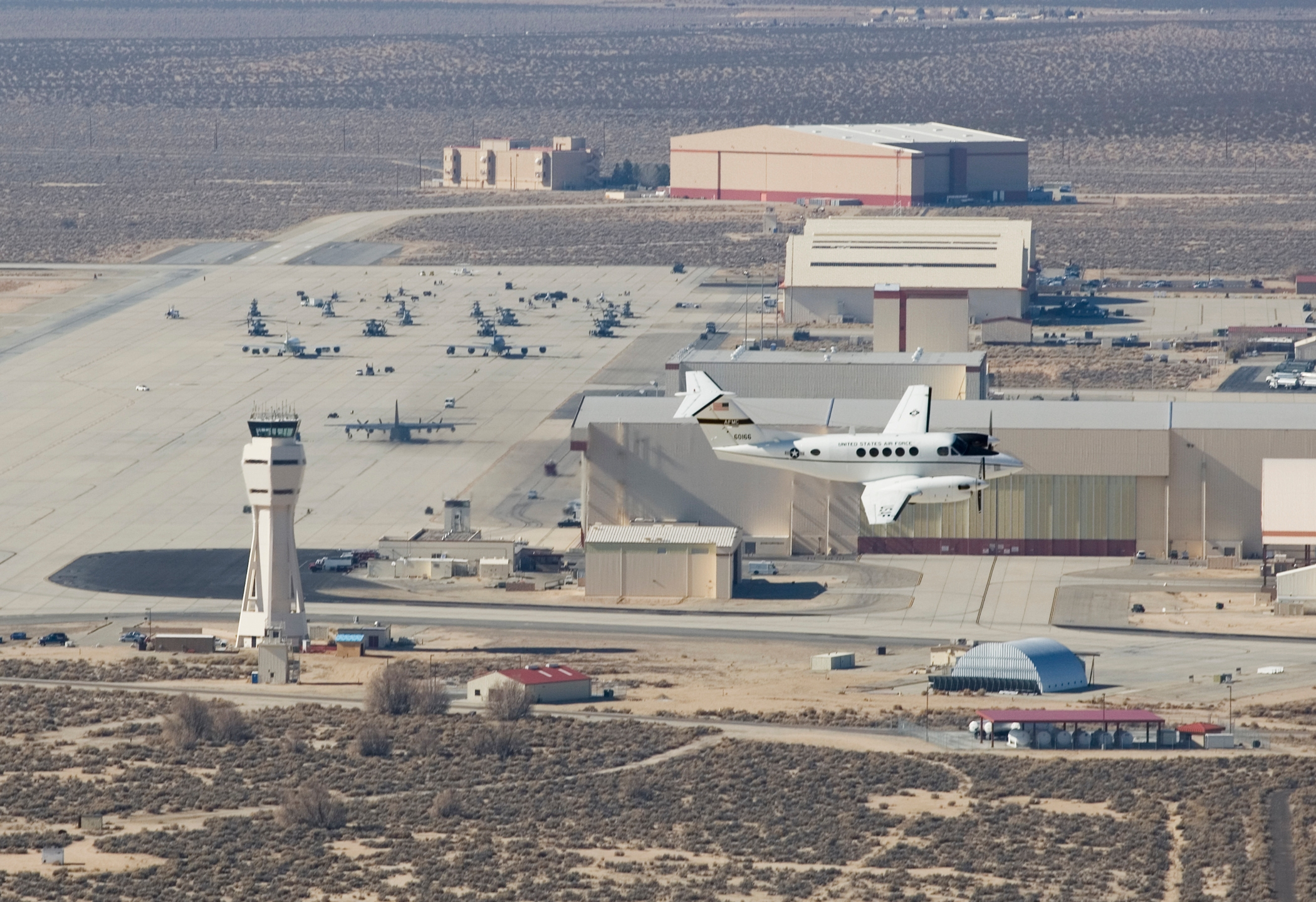 Edwards Air Force Base in Kern County is seen a file photo. (Credit: Bobbi Zapka / U.S. Air Force)