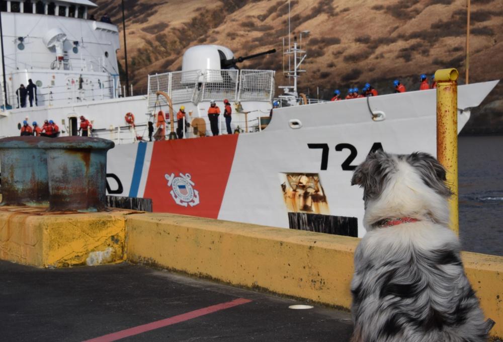 Coast Guard Cutter Douglas Munro moors at its home port in Kodiak, Alaska, on April 23, 2019. (Credit: Petty Officer 3rd Class Lauren Dean / U.S. Coast Guard)