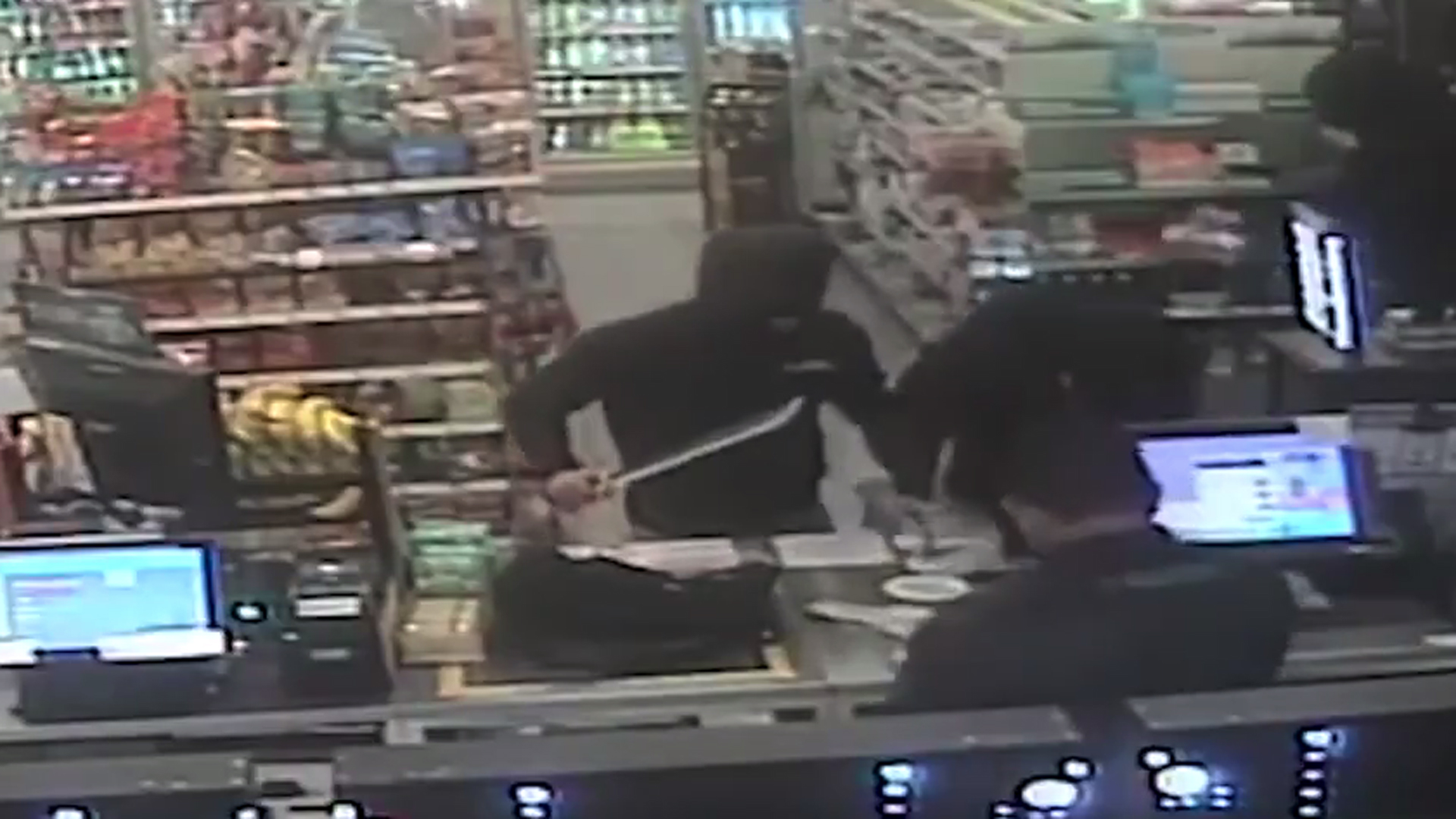 Three men armed with a machete and a knife robbed a Yorba Linda 7-Eleven store on Nov. 27, 2019. (Credit: Orange County Sheriff's Department)