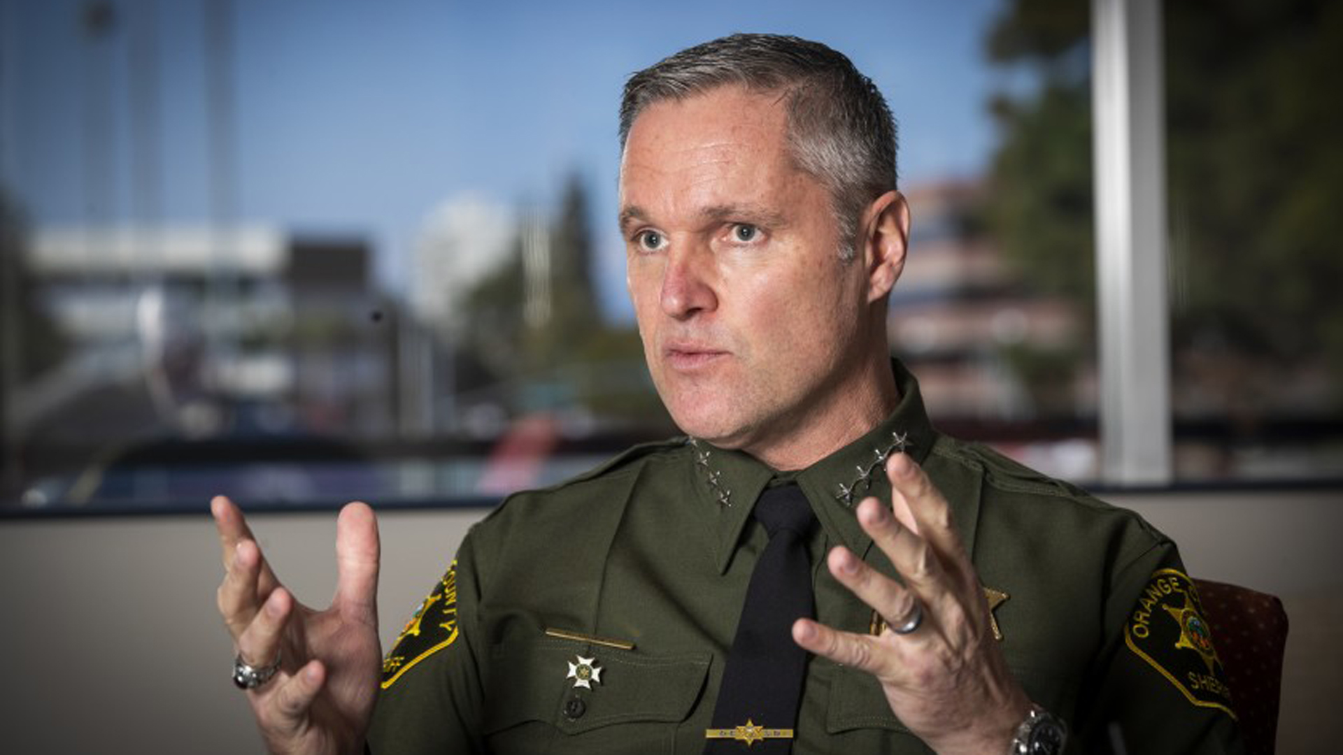 Orange County Sheriff' Don Barnes (Credit: Allen J. Chaben/Los Angeles Times)