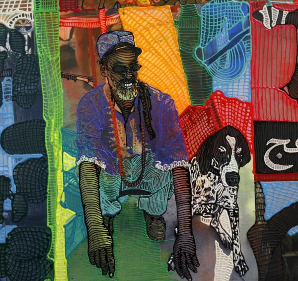 Pictured inside the East Los Angeles studio of artist Jaime Scholnick is a detail from a panel she did. The work will be seen on Metro's Crenshaw Line when it opens in 2020. (Credit: Francine Orr / Los Angeles Times)