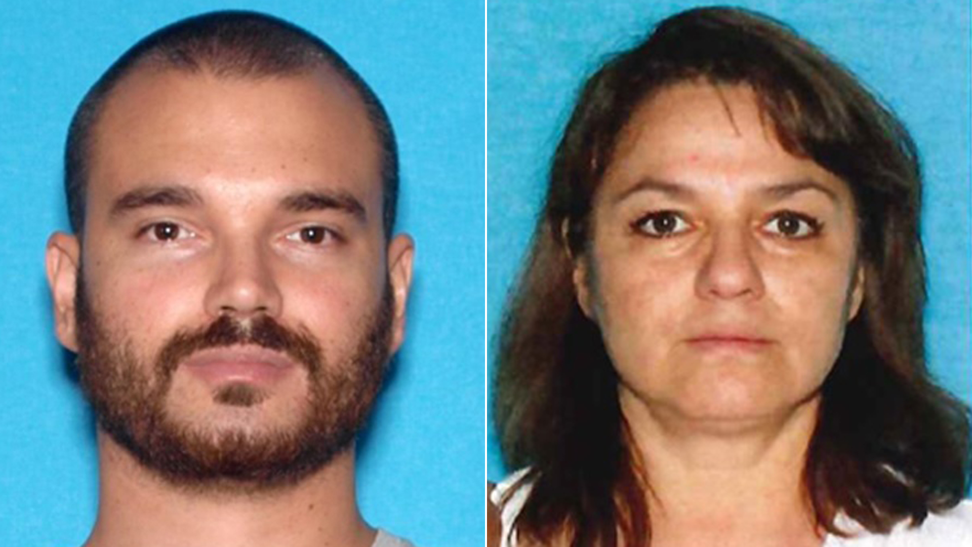 Michael John Cullen, left, and his mother Esperanza Guadalupe Cullen are shown in photos released Nov. 8, 2019, by Simi Valley police.