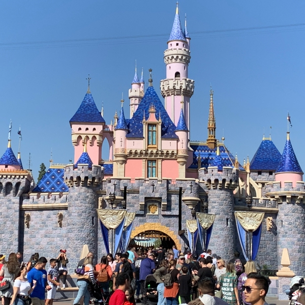 Sleeping Beauty castle is seen at Disneyland on Oct. 14, 2019. (Credit: KTLA)