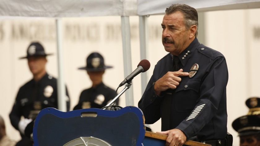 Former Los Angeles Police Chief Charlie Beck is seen in a file photo. (Credit: Al Seib / Los Angeles Times)