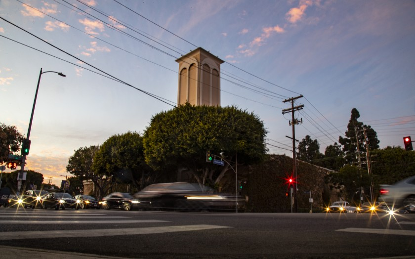 "Members of a neighborhood group are calling on the city to begin a ""long overdue"" review of the oil facility at Pico Boulevard and Doheny Drive in Los Angeles. (Credit: Gina Ferazzi / Los Angeles Times)"