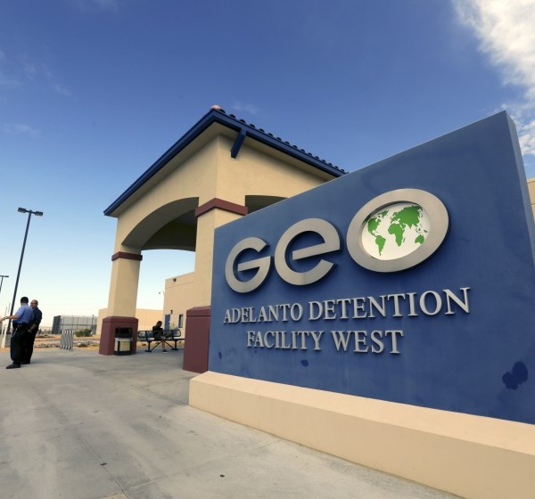 GEO Group, a private prison company, operates this Adelanto ICE Processing Center in San Bernardino County. (Credit: Irfan Khan / Los Angeles Times)