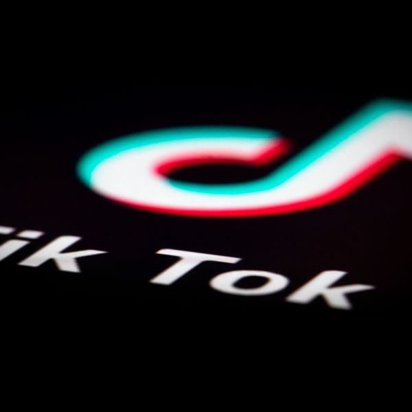 A photo taken on Dec. 14, 2018, in Paris shows the logo of the application TikTok. - TikTok, is a Chinese short-form video-sharing app, which has proved wildly popular this year. (Credit: JOEL SAGET/AFP via Getty Images)