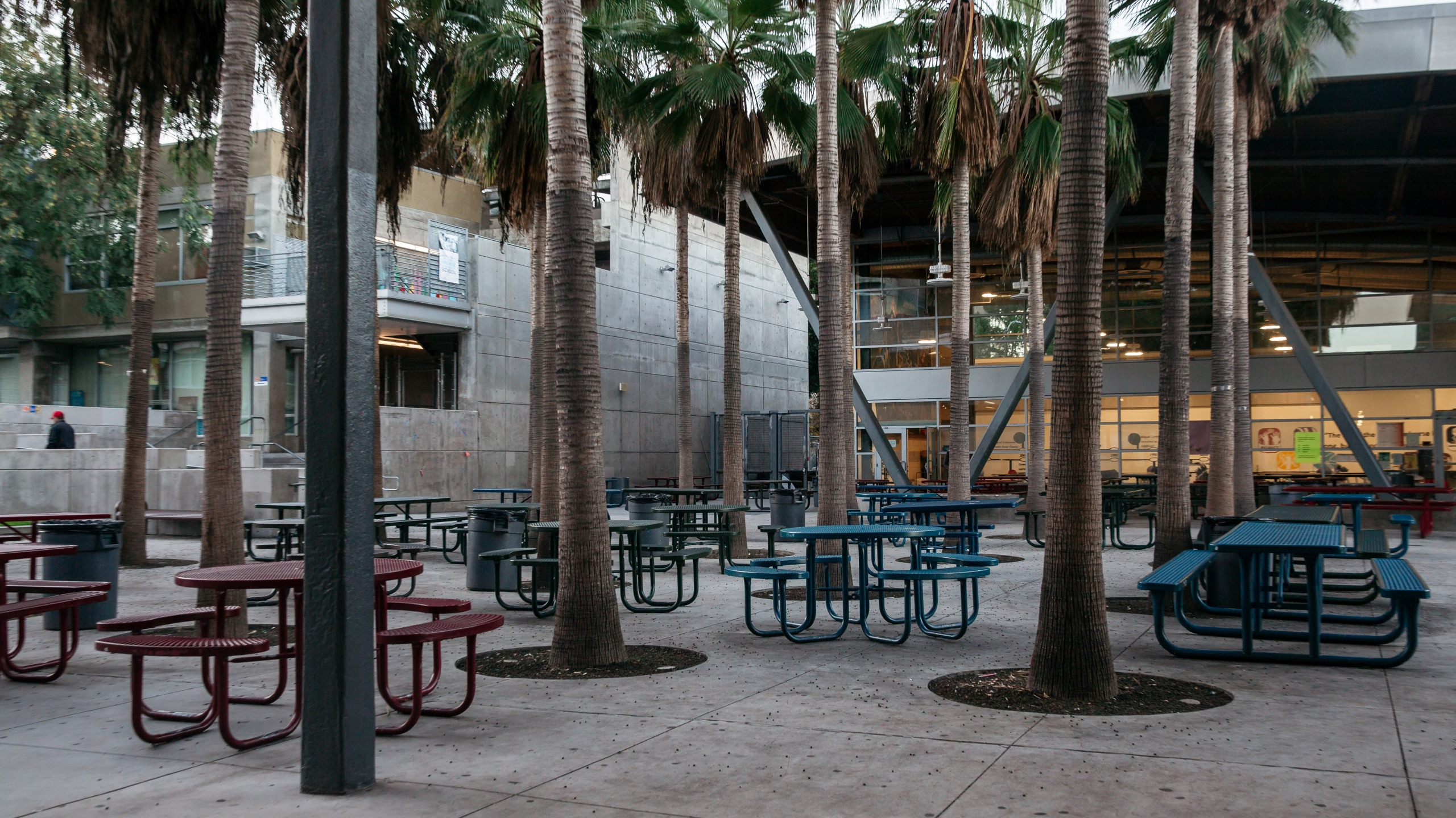 The courtyard of the Miguel Contreras Education Complex in downtown Los Angeles is seen on Jan. 22, 2019. (Credit: Scott Heins/Getty Images)