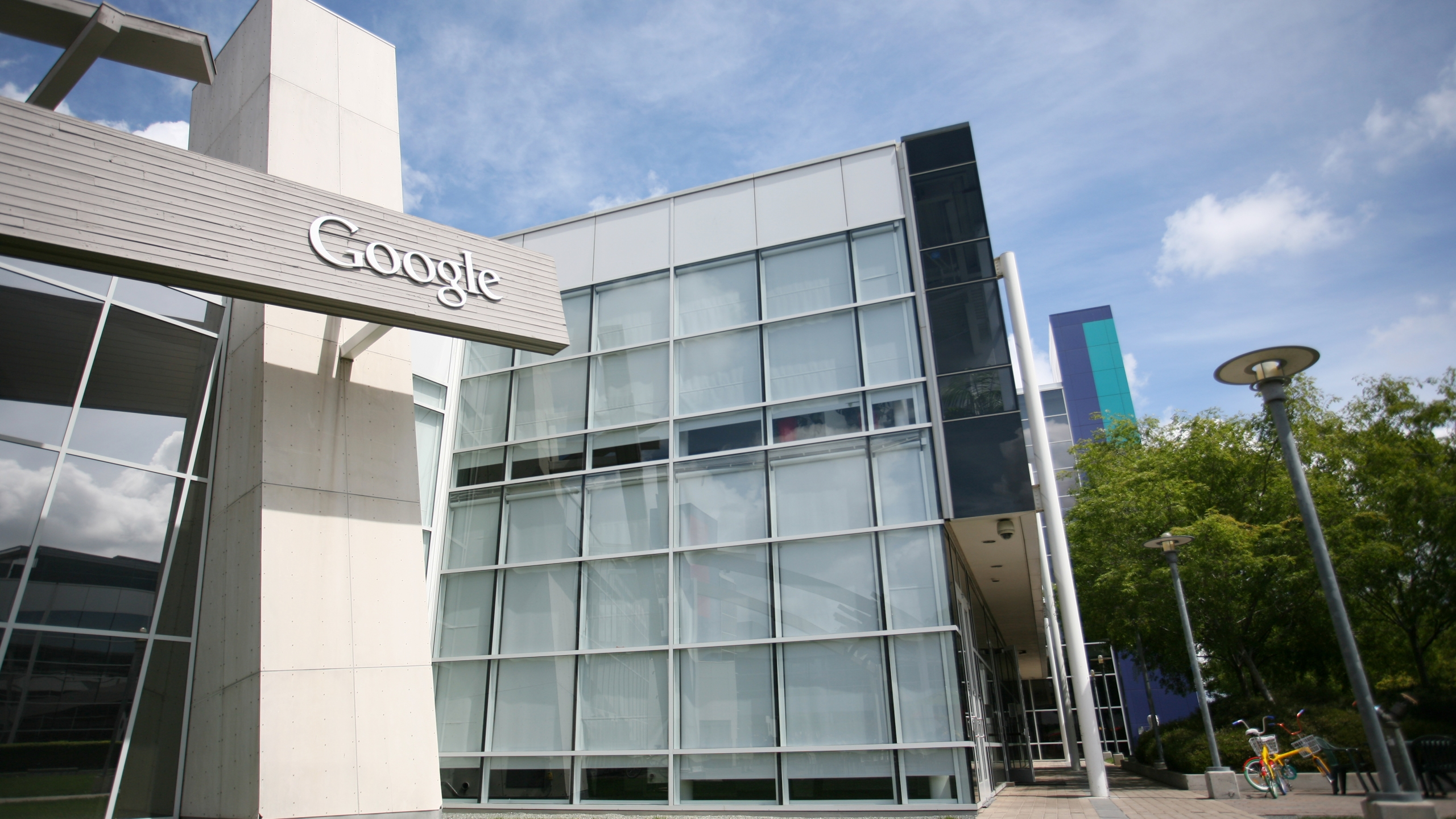 The Google logo is displayed at the Google headquarters in Mountain View, California on April 7, 2011. (Credit: KIMIHIRO HOSHINO/AFP via Getty Images)