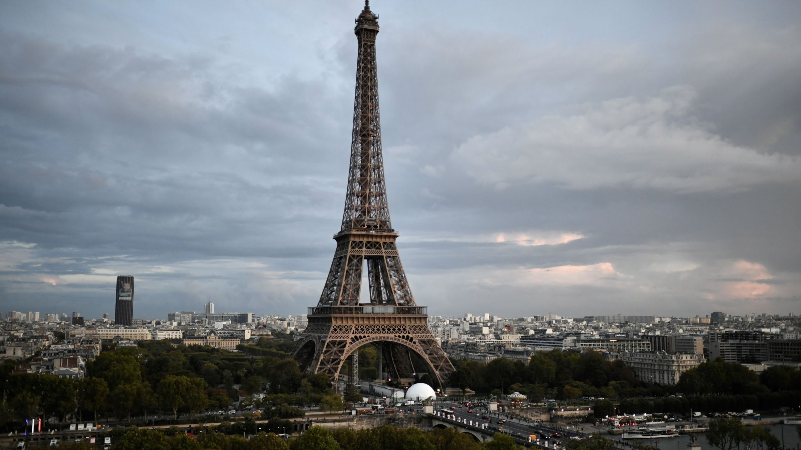 A picture taken on Oct. 1, 2019, shows the Eiffel tower in Paris. (Credit: STEPHANE DE SAKUTIN/AFP via Getty Images)