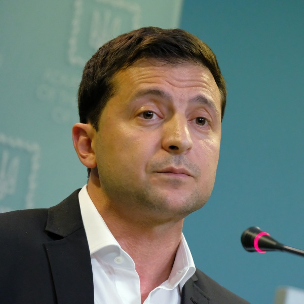 Ukrainian President Volodymyr Zelensky speaks to media in Kiev on Oct. 1, 2019. (Credit: Sean Gallup / Getty Images)