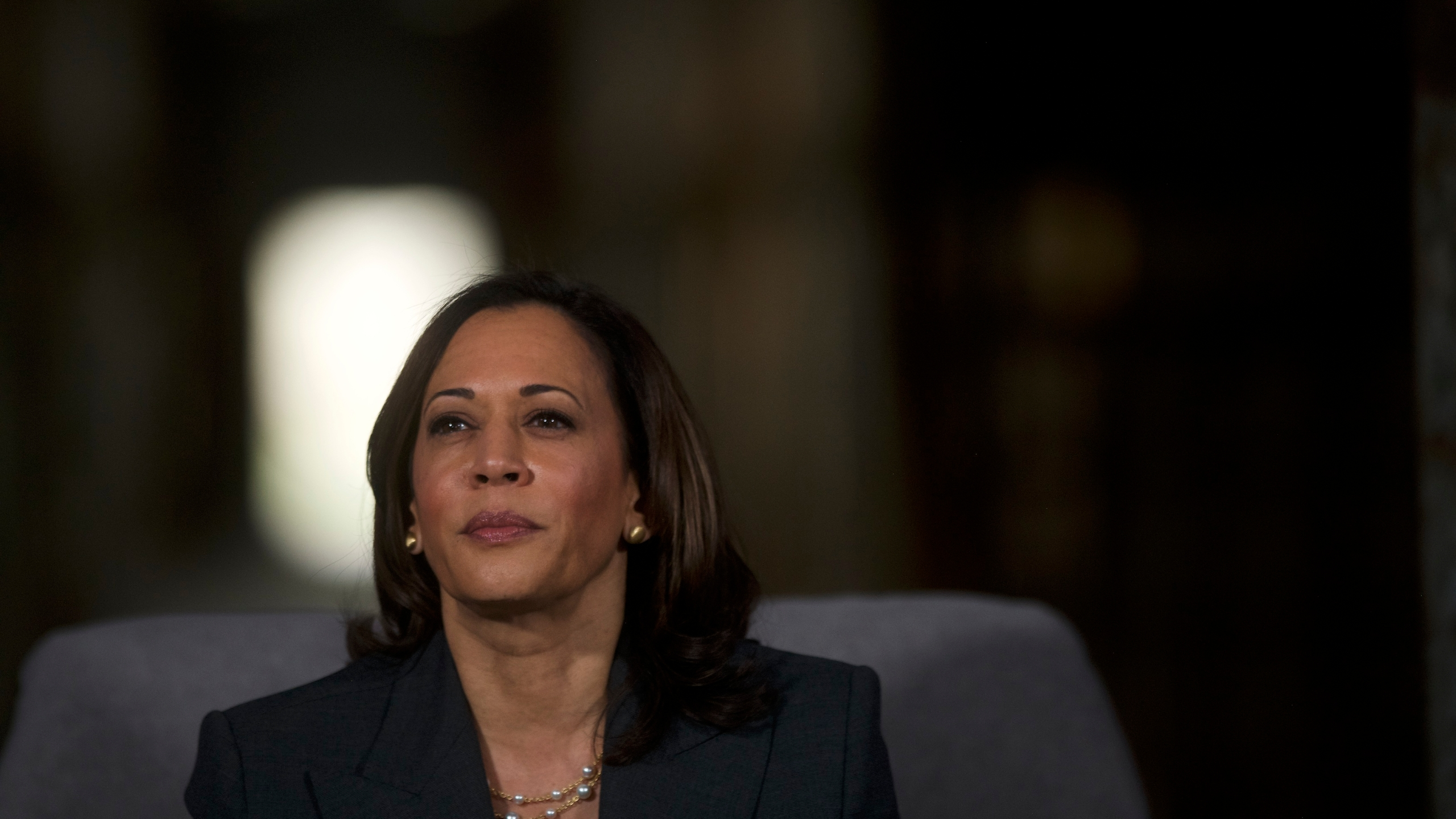 Sen. Kamala Harris appears at a town hall at the Eastern State Penitentiary on Oct. 28, 2019, in Philadelphia, Pennsylvania. (Mark Makela/Getty Images)