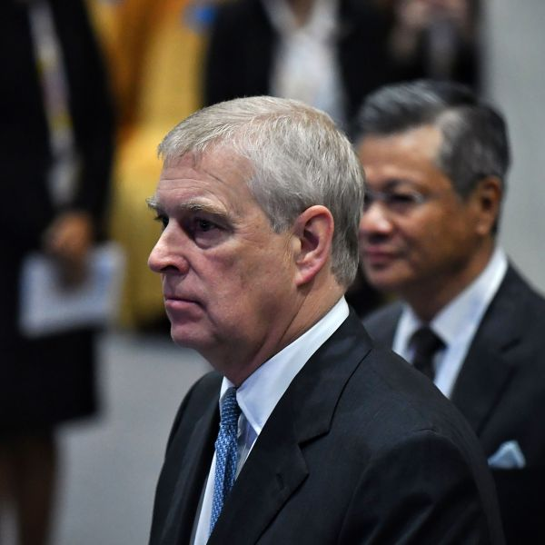 Britain's Prince Andrew, Duke of York, arrives for the ASEAN Business and Investment Summit in Bangkok on Nov. 3, 2019. (Credit: LILLIAN SUWANRUMPHA/AFP via Getty Images)