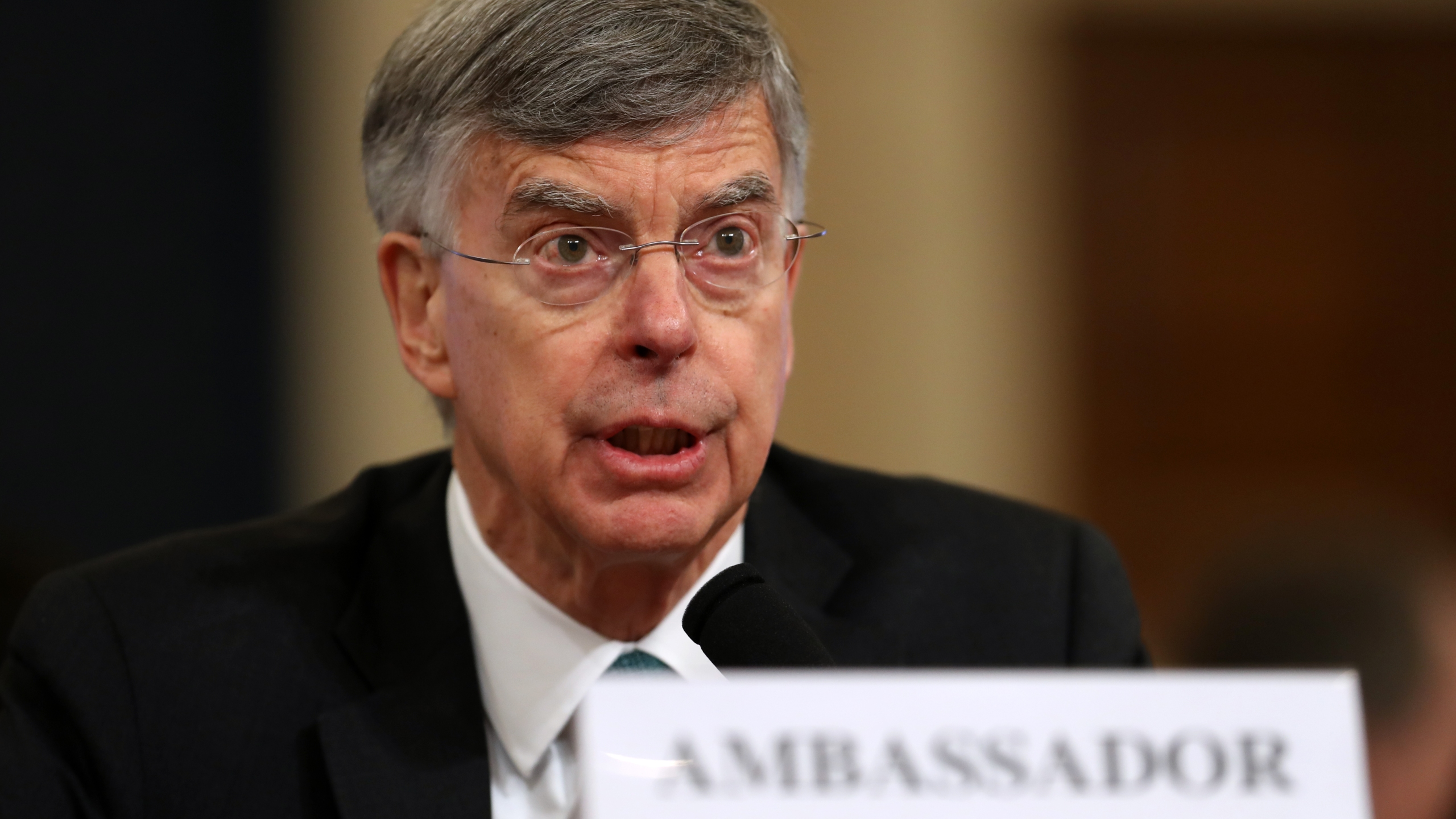 Top U.S. diplomat in Ukraine William B. Taylor Jr. testifies before the House Intelligence Committee in the Longworth House Office Building on Capitol Hill on Nov. 13, 2019 in Washington, D.C. (Credit: Chip Somodevilla/Getty Images)