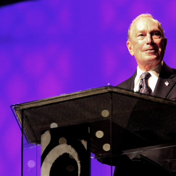 Michael Bloomberg speaks at the Christian Cultural Center on Nov. 17, 2019 in the Brooklyn borough of New York City. (Credit: Yana Paskova/Getty Images)