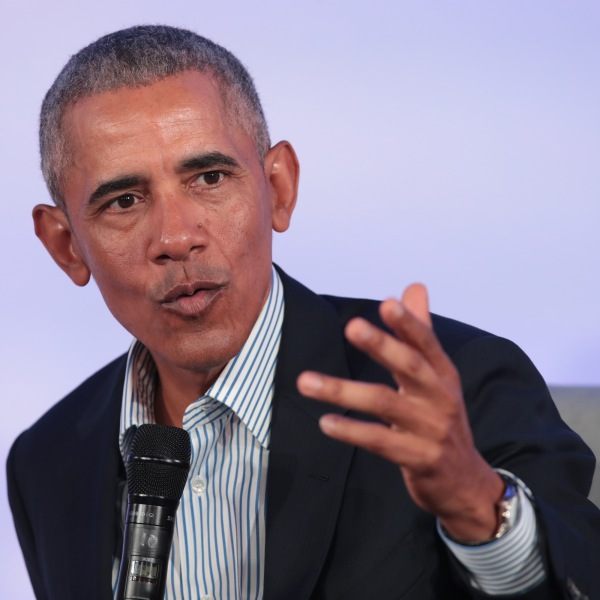 Former U.S. President Barack Obama speaks to guests at the Obama Foundation Summit on the campus of the Illinois Institute of Technology on Oct. 29, 2019 in Chicago, Illinois. (Credit: Scott Olson/Getty Images)