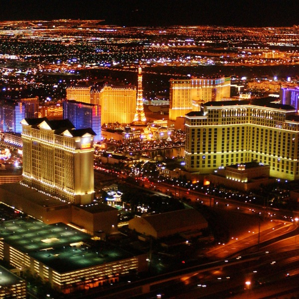 The Las Vegas Strip is seen in this 2002 file photo. (Credit: Robert Mora/Getty Images)