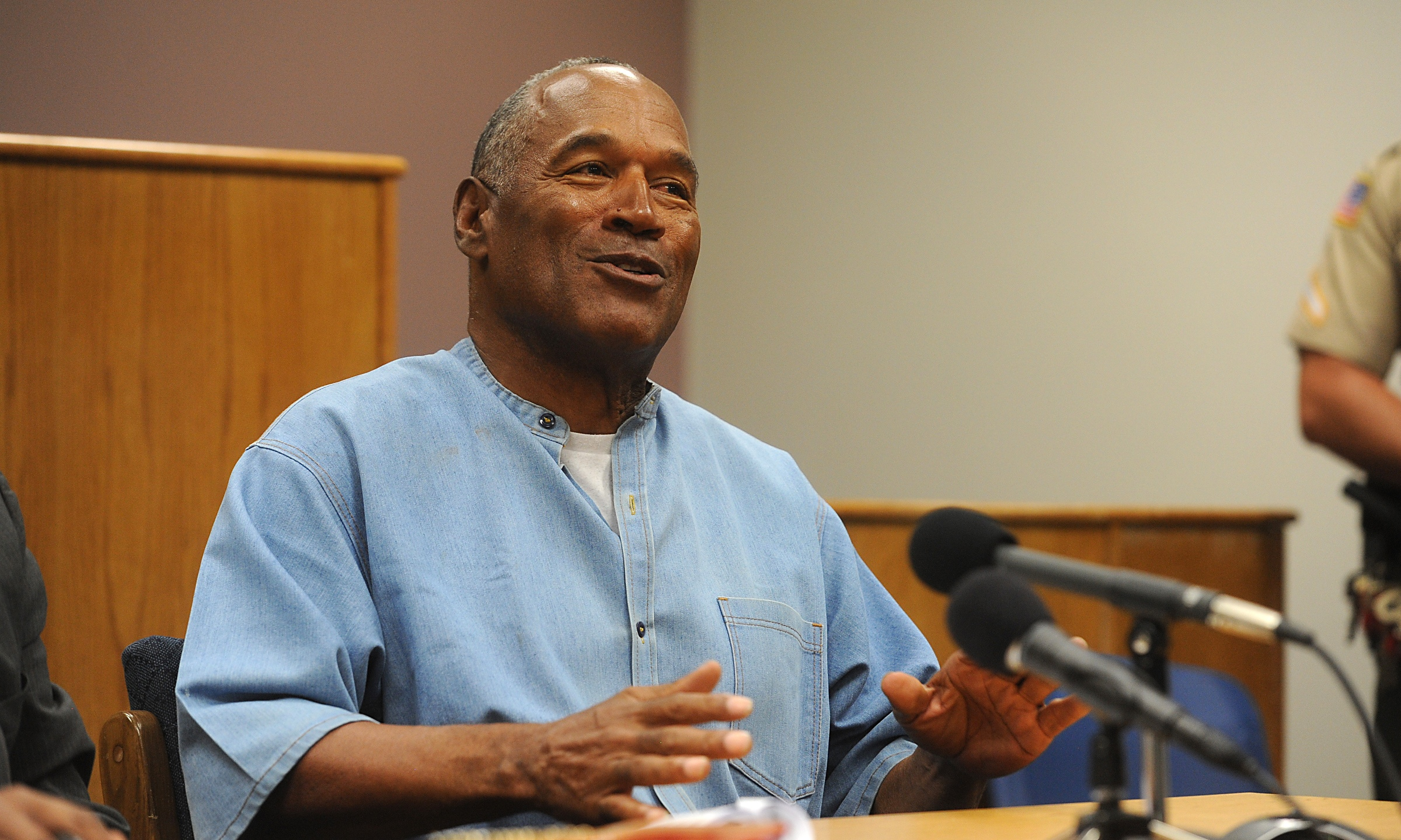 O.J. Simpson attends a parole hearing at Lovelock Correctional Center in Nevada on July 20, 2017. (Credit: Jason Bean / Getty Images)