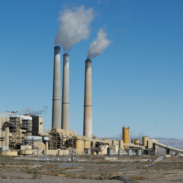Emissions rise from the smokestacks of Pacificorp's 1440 megawatt coal-fired power plant on Oct. 9, 2017, in Castle Dale, Utah. (Credit: George Frey/Getty Images)