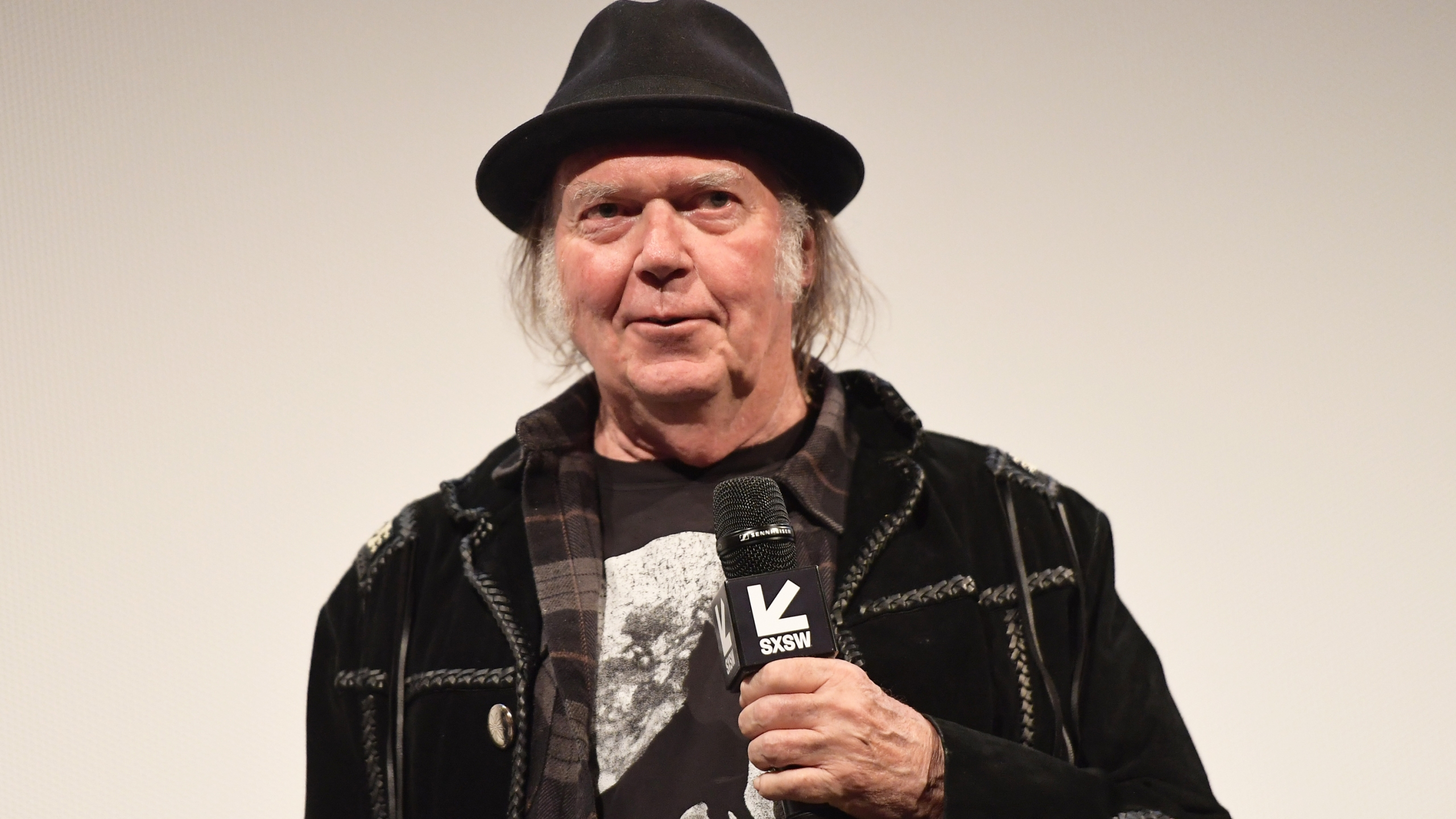 """Neil Young attends the """"Paradox"""" Premiere 2018 SXSW Conference and Festivals at Paramount Theatre on March 15, 2018, in Austin, Texas. (Credit: Matt Winkelmeyer/Getty Images for SXSW)"""