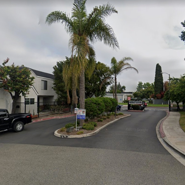 The Park Westminster condominium community in Garden Grove, as viewed in a Google Street View image.