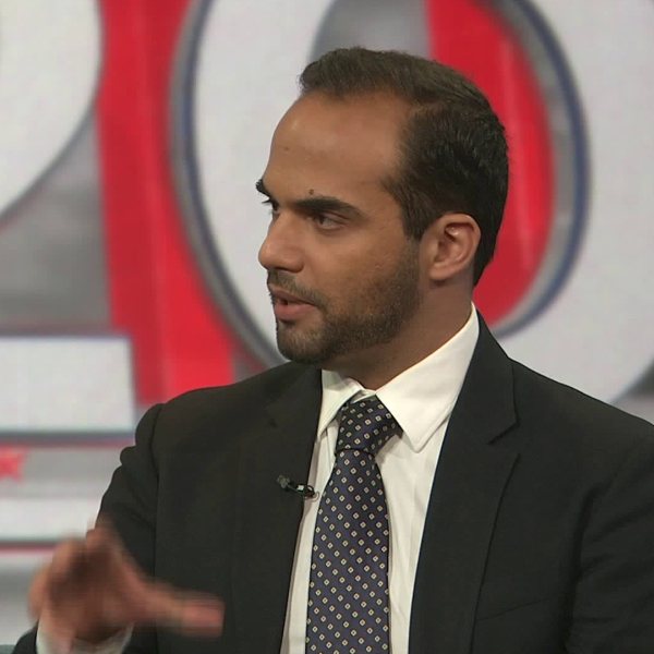 George Papadopoulos appears on KTLA on Nov. 27, 2019. (Credit: KTLA)