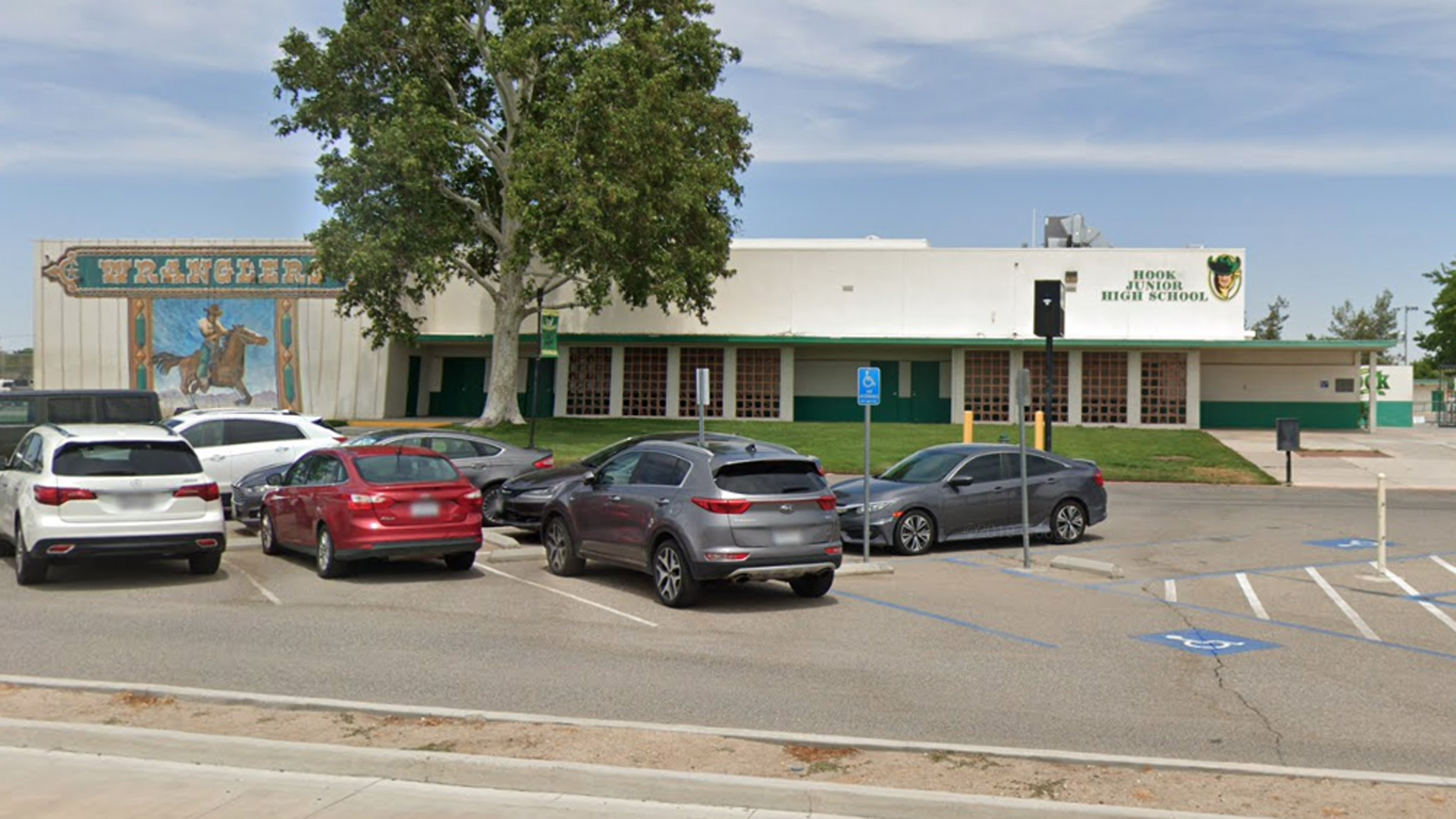 A Google Maps image of Hook Junior High School in Victorville.