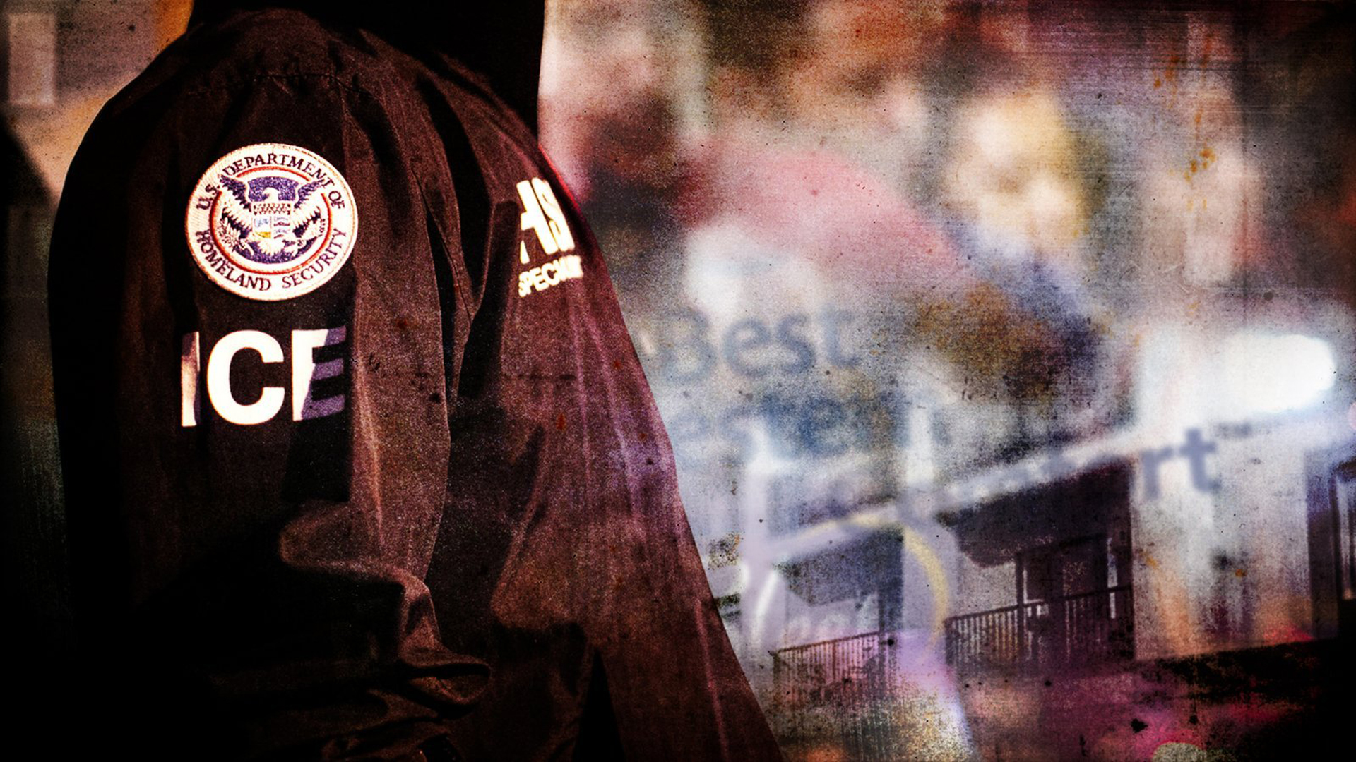 A photo illustration shows an ICE agent. (Credit: CNN)