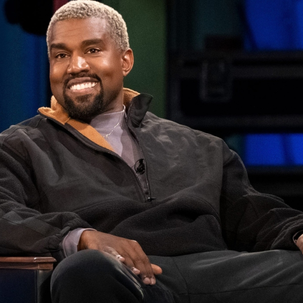 In a surprise appearance, West suggested he may make the name change for a year. (Credit: Tyler Golden/Netflix)