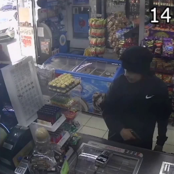 Los Angeles County Sheriff's officials on Nov. 20, 2019 released video of two armed robberies that occurred in Bellflower the previous month.