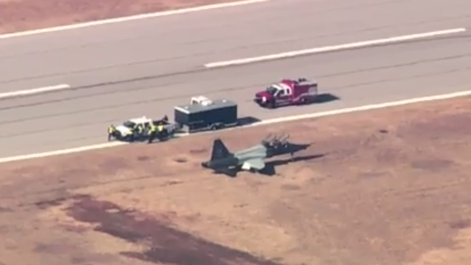Two airmen were killed in a crash during a training exercise at Vance Air Force Base in Oklahoma on Nov. 21, 2019. (Credit: KOCO)
