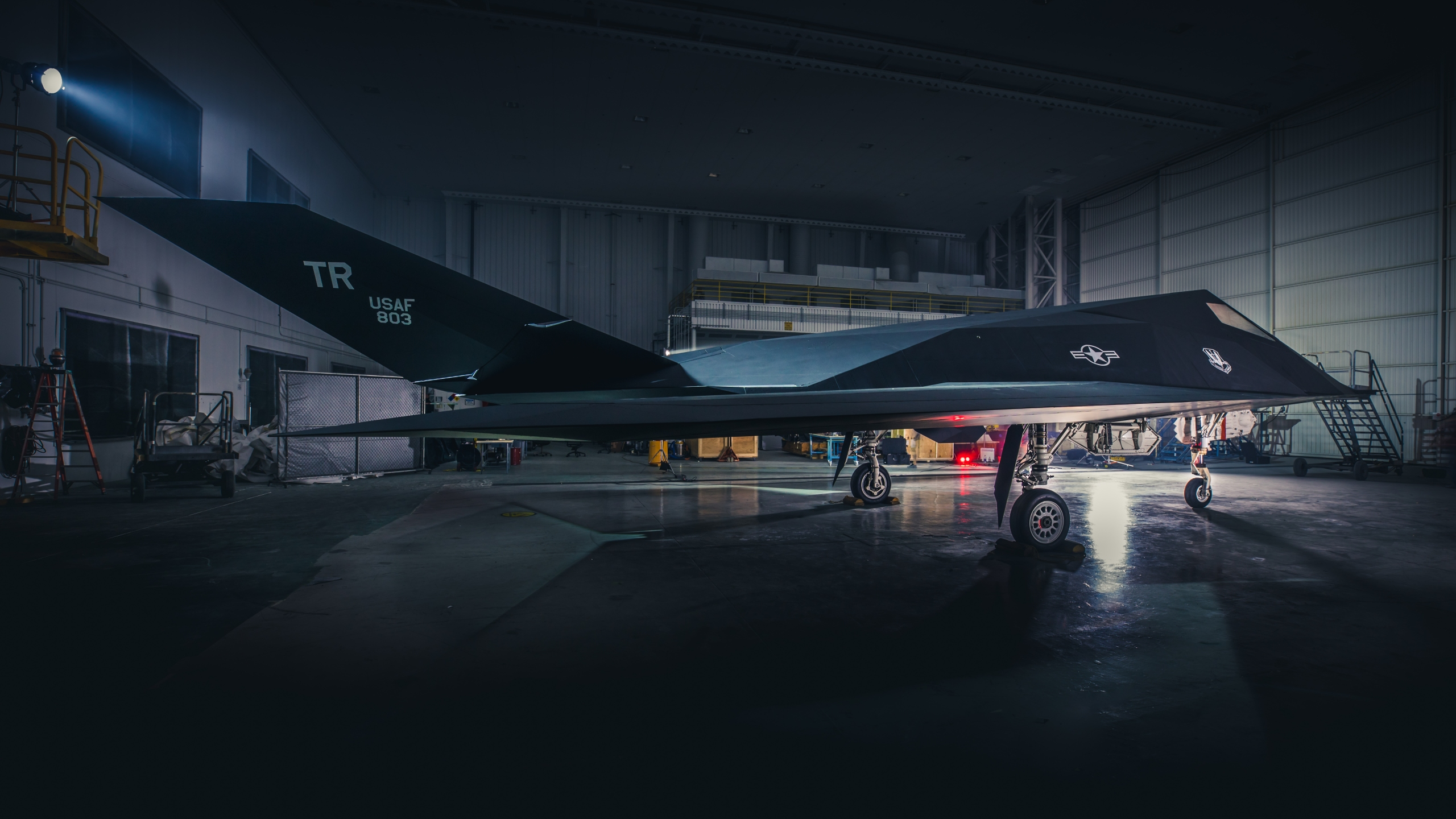 Ronald Reagan Library F-117 Restoration photo shoot on Oct. 30, 2019. (Credit: Garry Tice/Lockheed Martin Photography)