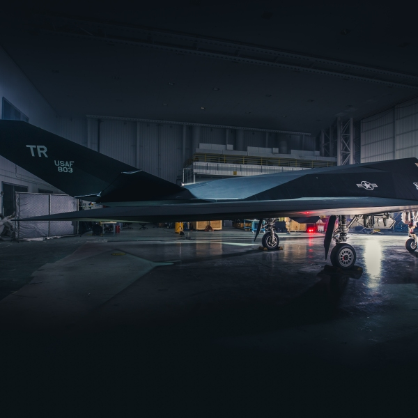 Ronald Reagan Library F-117 Restoration photo shoot on Oct. 30, 2019. (Credit: Garry Tice/Lockheed Martin Photography)