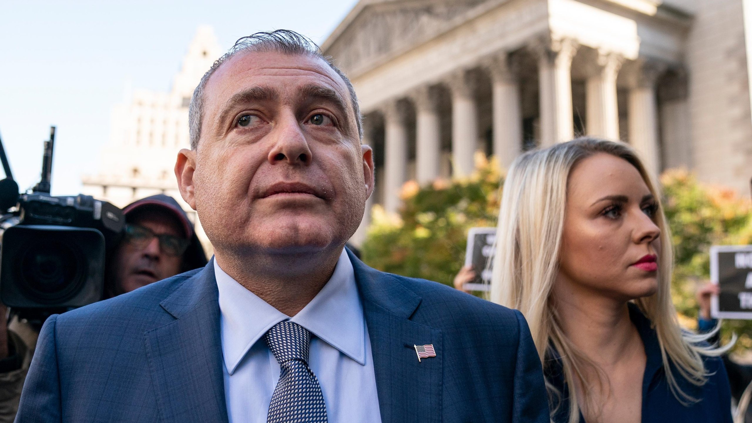An associate of Rudy Giuliani -- Lev Parnas -- has initiated talks with impeachment investigators through his attorney. (Credit: Drew Angerer/Getty Image)