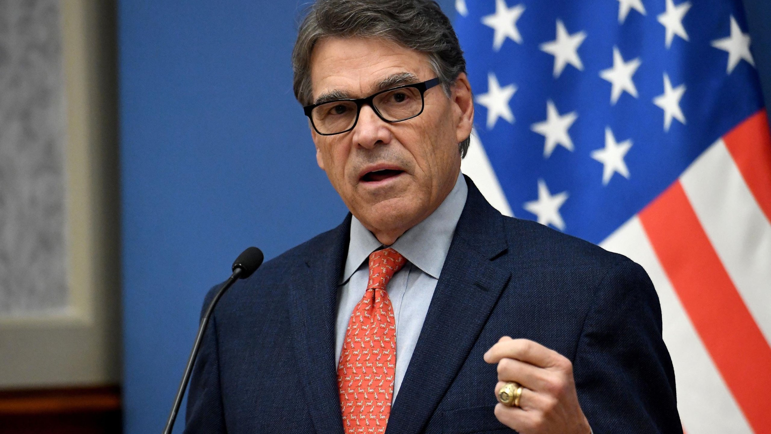 Energy Secretary Rick Perry will not participate in a closed-door deposition with impeachment investigators but would consider testifying in an open hearing, according to the Department of Energy. (Credit: Attila Kisbenedek/AFP/Getty Images via CNN)