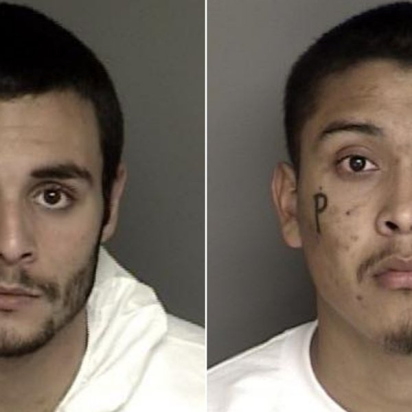Santos Fonseca, left, and Jonathan Salazar are seen in undated booking photos released by the Monterey County Sheriff's Office.