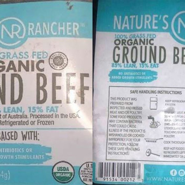 More than 130,000 pounds of ground beef recalled for possible plastic contamination. (Credit: USDA)