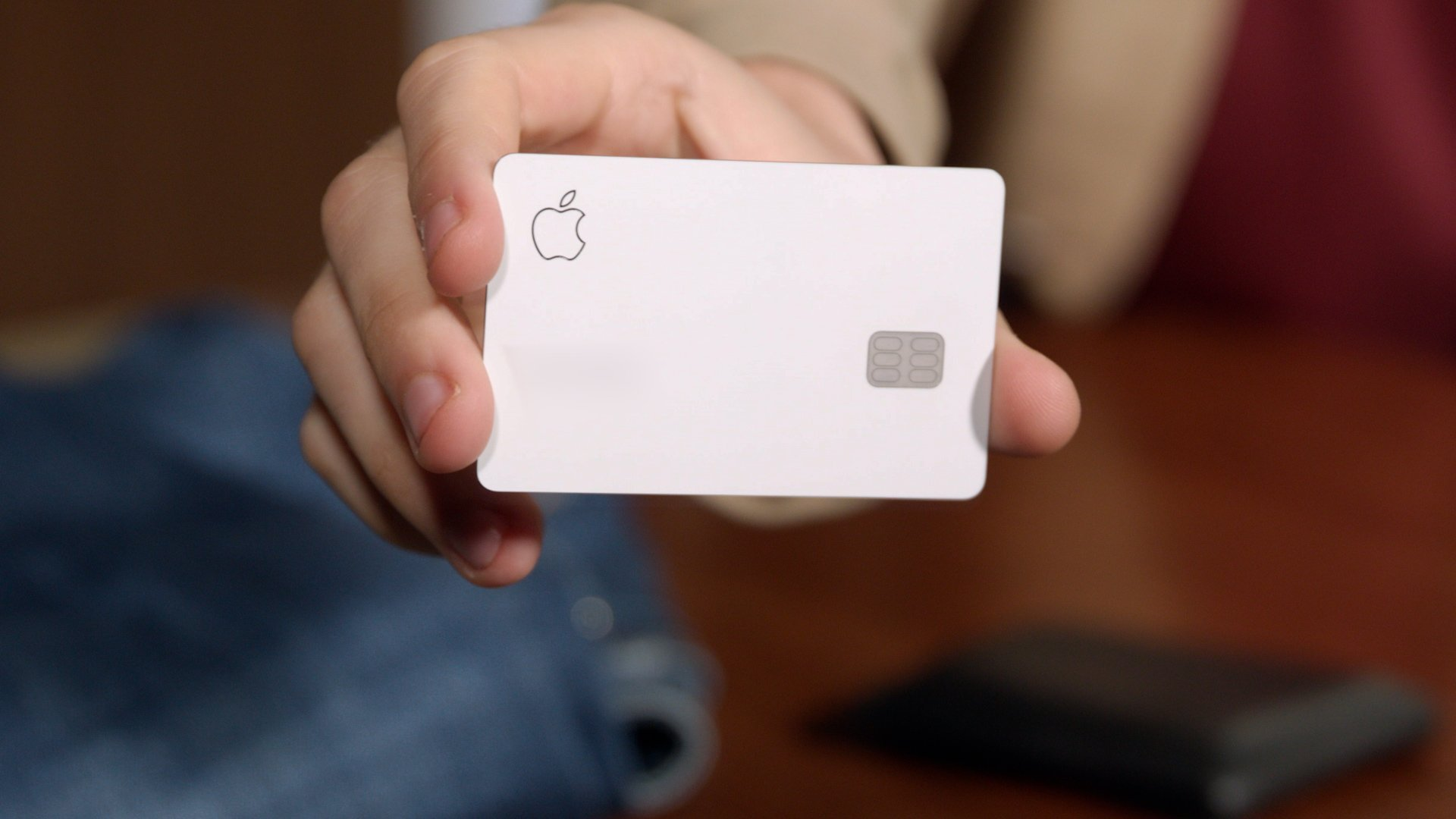 A person holds an Apple card in this file photo. (Credit: CNN)