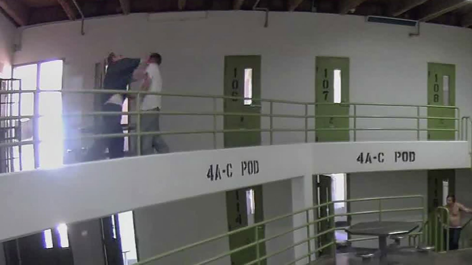 Video of a prison fight involving Jake Patterson has been released by the New Mexico Corrections Department. (Credit: New Mexico Corrections Dept.)