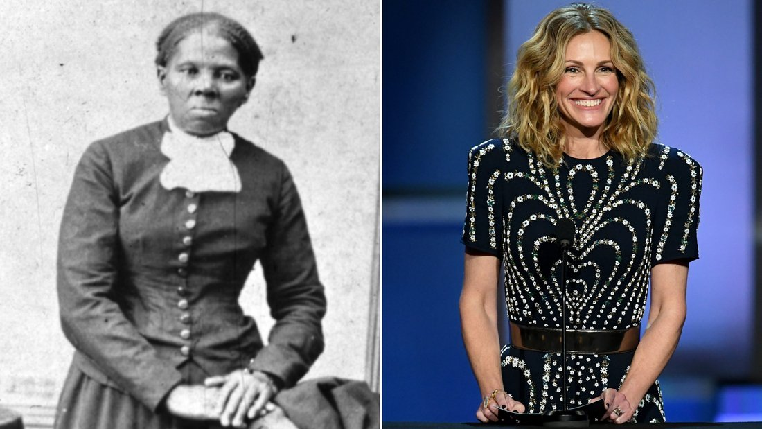 A Hollywood studio executive once suggested that Julia Roberts should play iconic African-American activist Harriet Tubman in a biopic. (Credit: Getty Images)