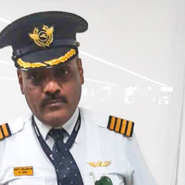 48-year-old Rajan Mahbubani allegedly donned the uniform of a Lufthansa pilot in order to fool airport workers into letting him bypass security lines and get seat upgrades. (Credit: Delhi Police)
