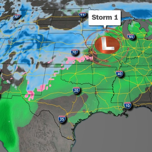 Just in time for Thanksgiving, millions of travelers will get walloped by several storms across the country. (Credit: CNN)