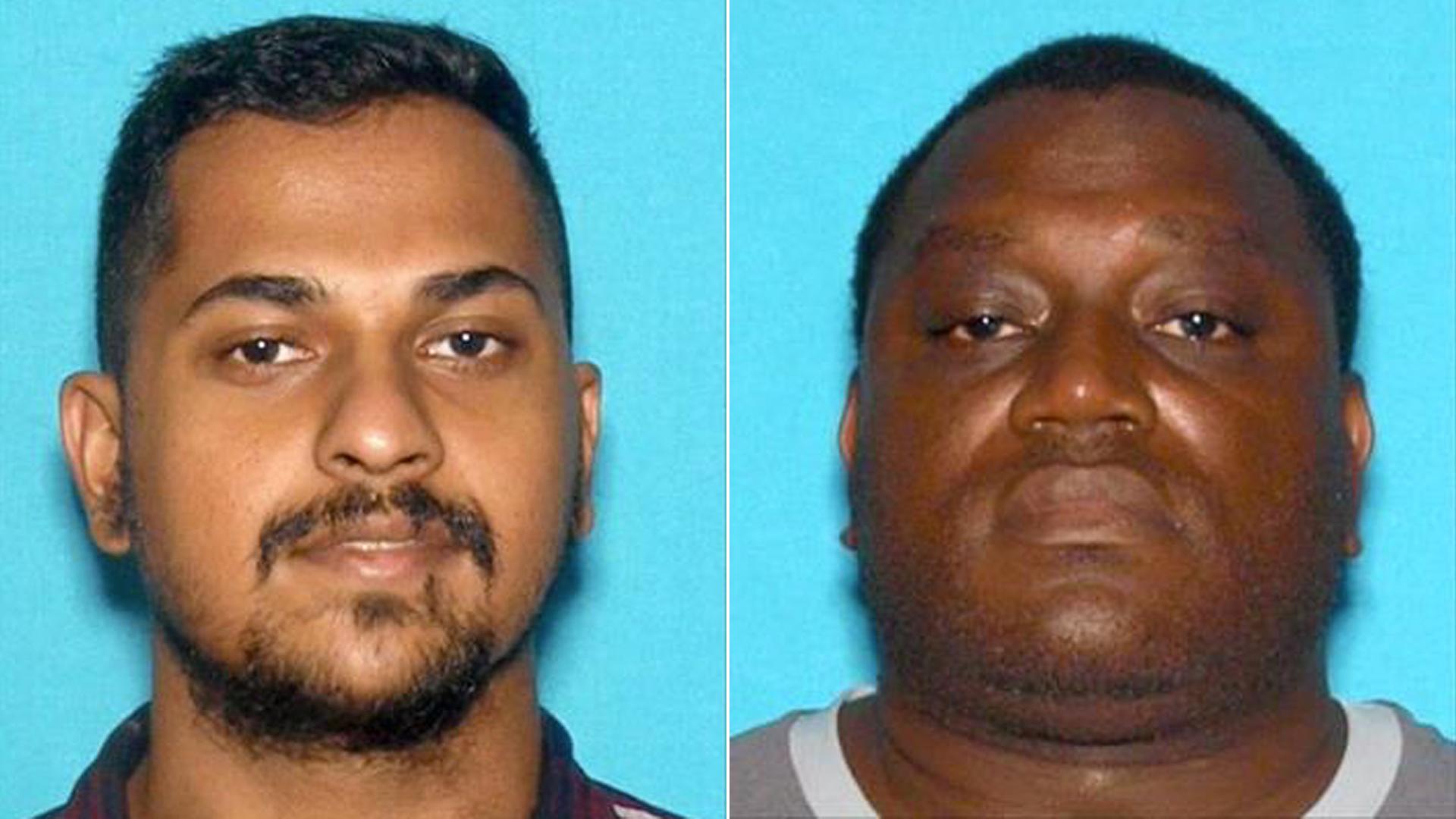 Homicide victim Abishek Sudhesh Bhat, 25, of San Bernardino, at left, and suspect Eric Devon Turner, 42, of San Bernardino, at right, pictured in photos released by the San Bernardino Police Department on Nov. 30, 2019.