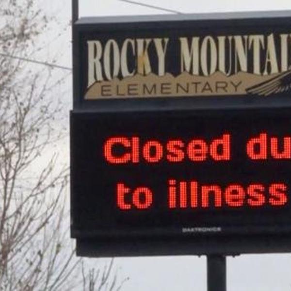 A school district in Colorado has closed more than 40 schools for two days after a virus outbreak rapidly spread through the student population, according to school officials. (Credit: KREX)