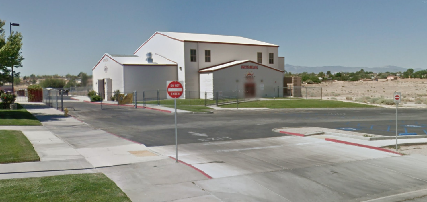 The Puesta Del Sol Elementary School campus in Victorville is seen in a Google Maps Street View image.