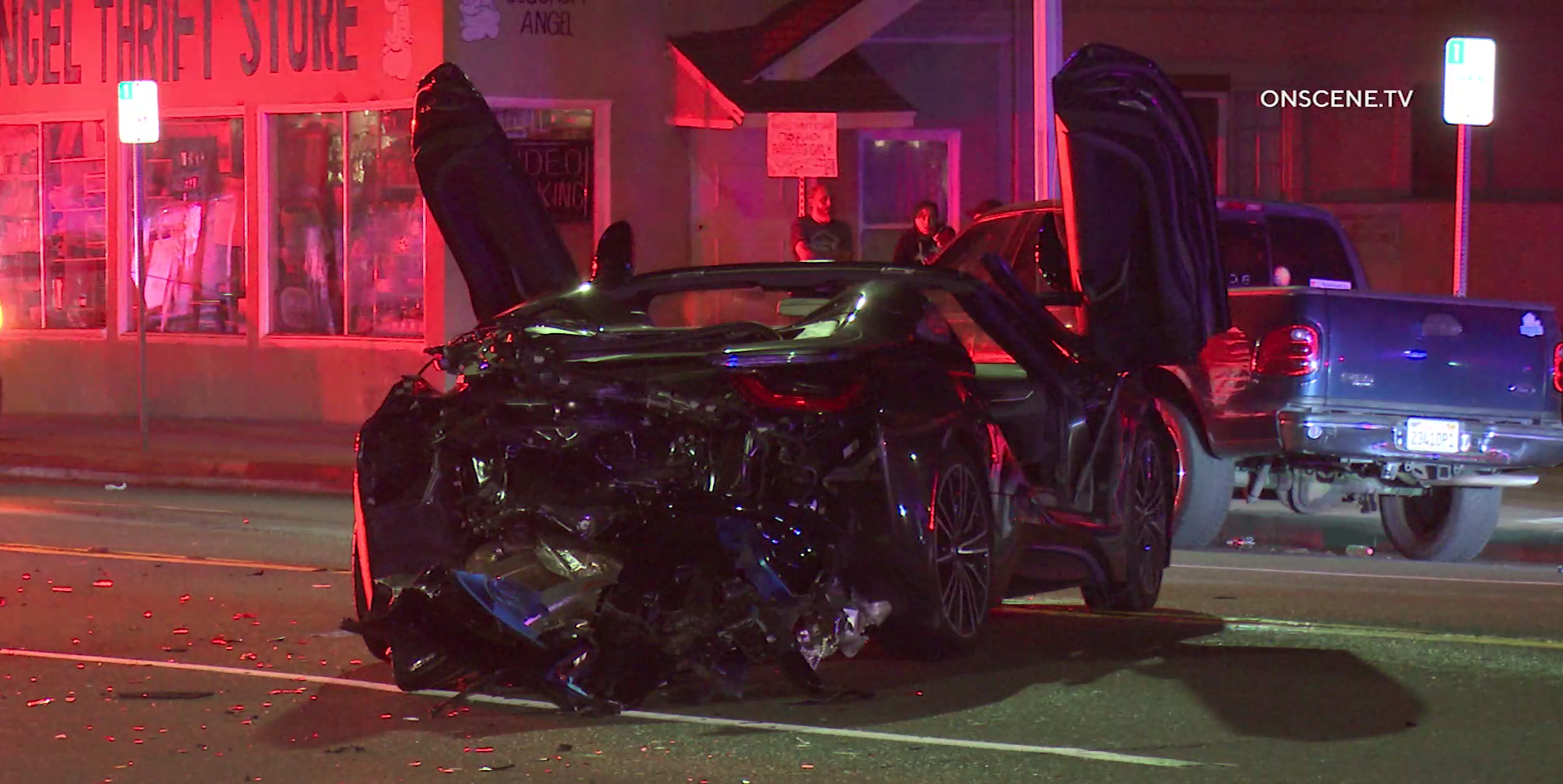 Santa Ana Officer Crashes Into A Car While Driving Towards A Pursuit Ktla