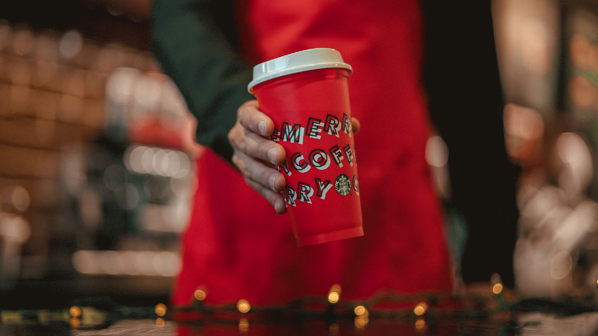 A 2019 holiday coffee cup is seen in this image from Starbucks.